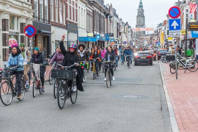 Fietsrave in Groningen