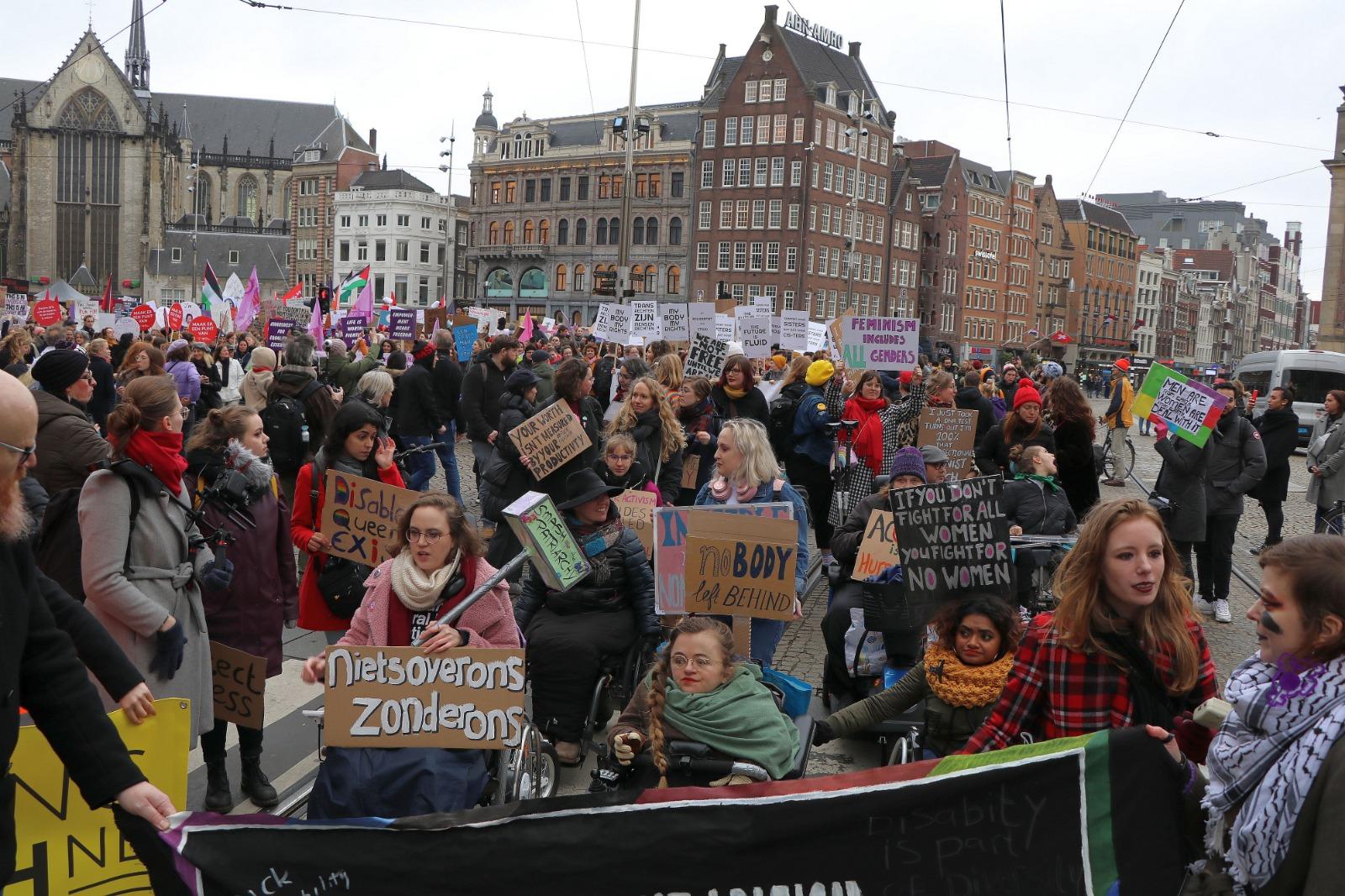 Women's March in Amsterdam