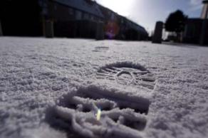 Voetspoor in de sneeuw | Archief FBF.nl