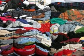 Foto van ingezamelde kleding