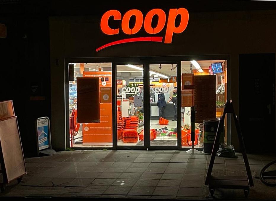 Ravage in overvallen supermarkt