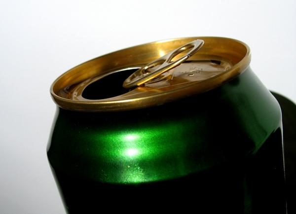 Foto van blikje bier   archief