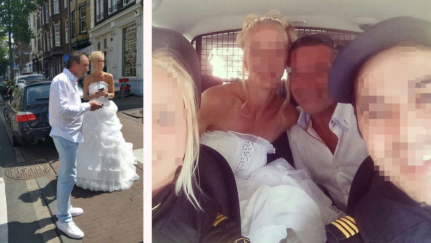 Amsterdams bruidspaar belandt op achterbank politieauto