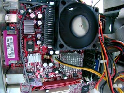 Foto van computerkast koelvin processor   Archief EHF
