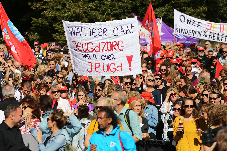 Demonstratie jeugdzorg