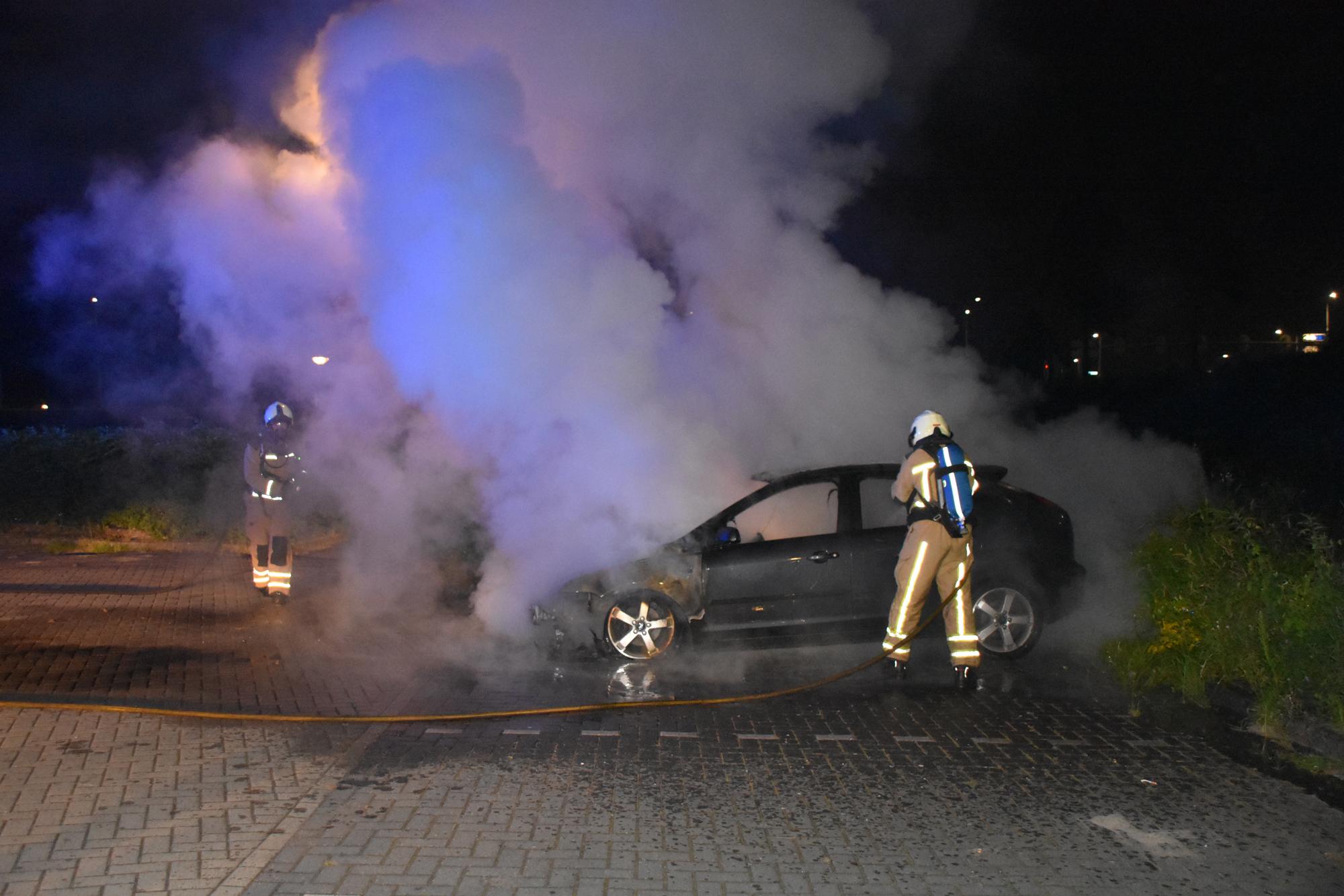 Auto uitgebrand
