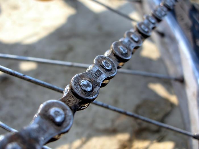 Foto van fietsketting