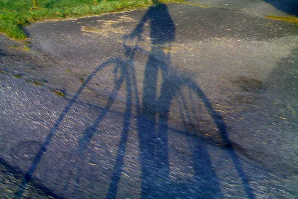 Foto van schaduw fietser | Archief EHF