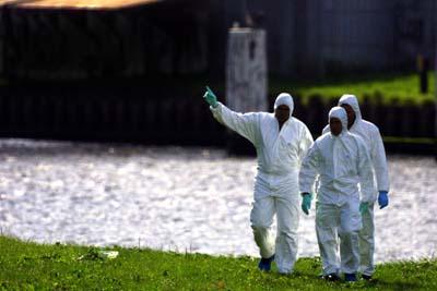 Foto van forensisch onderzoek bij water | Archief EHF