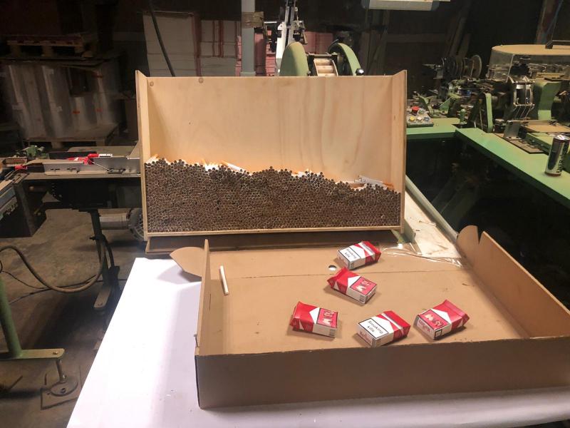 Illegale sigarettenfabriek