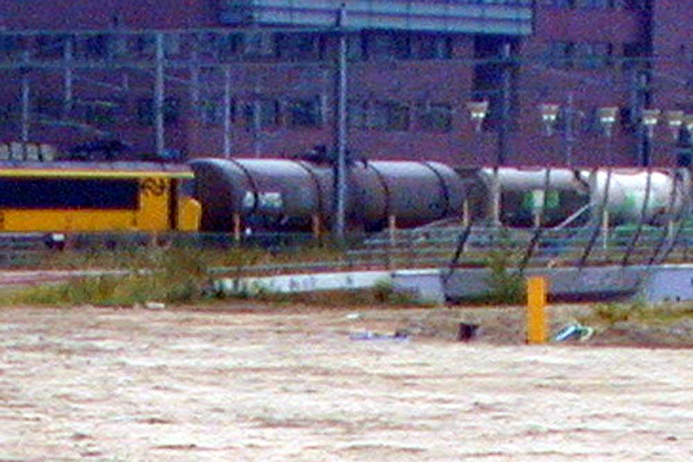 Foto van goederentrein met wagons   Archief EHF