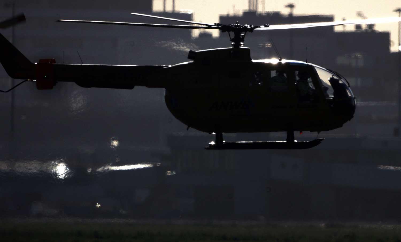 helikopter-donker-tegenlicht