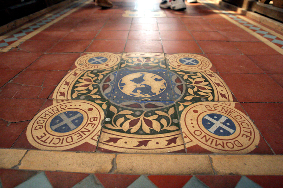 Foto van kerk vloer