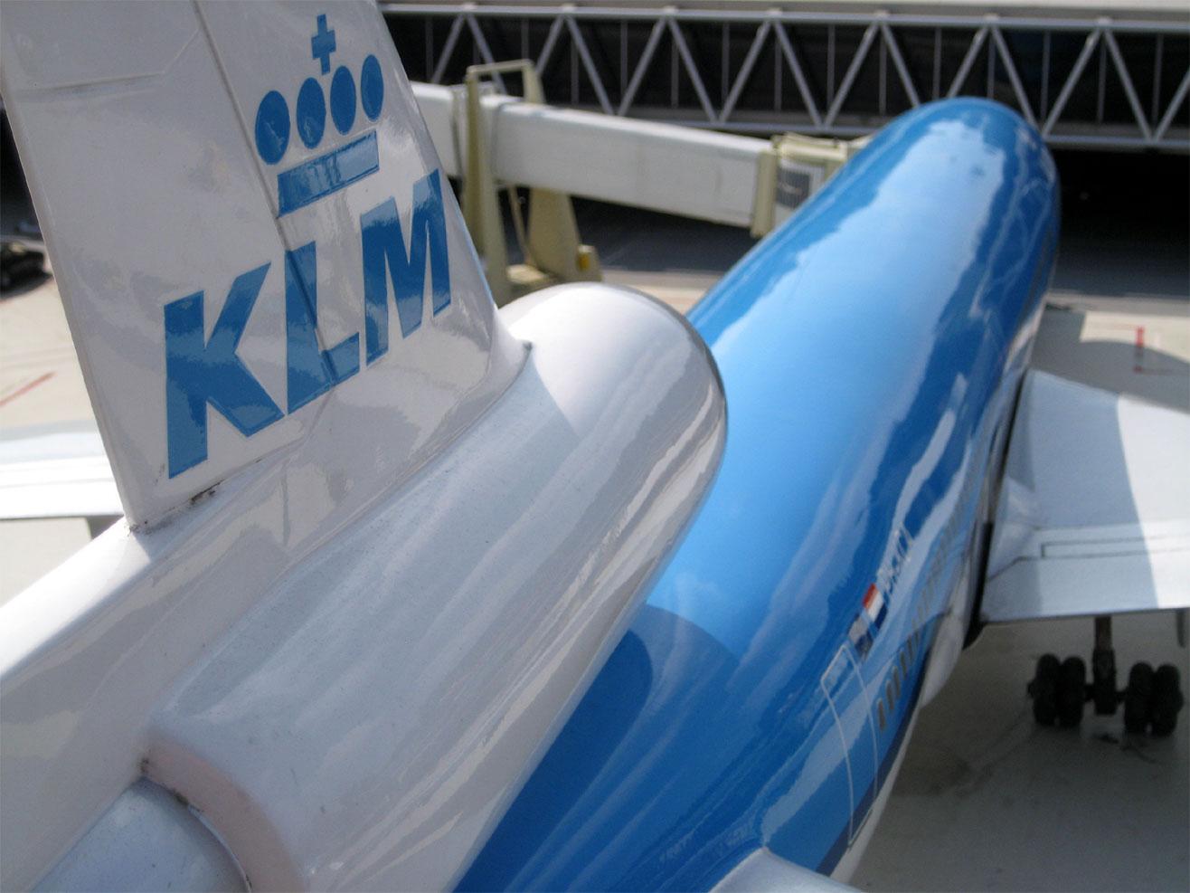 foto van KLM vliegtuig   fbf