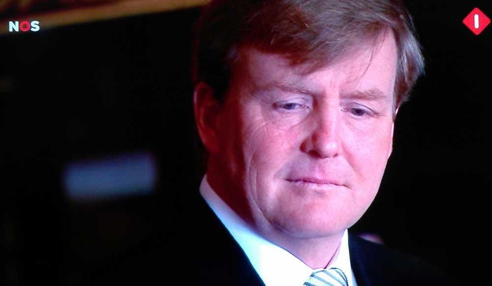 Televisietoespraak Koning Willem-Alexander:ramp heeft diepe wond geslagen in samenleving