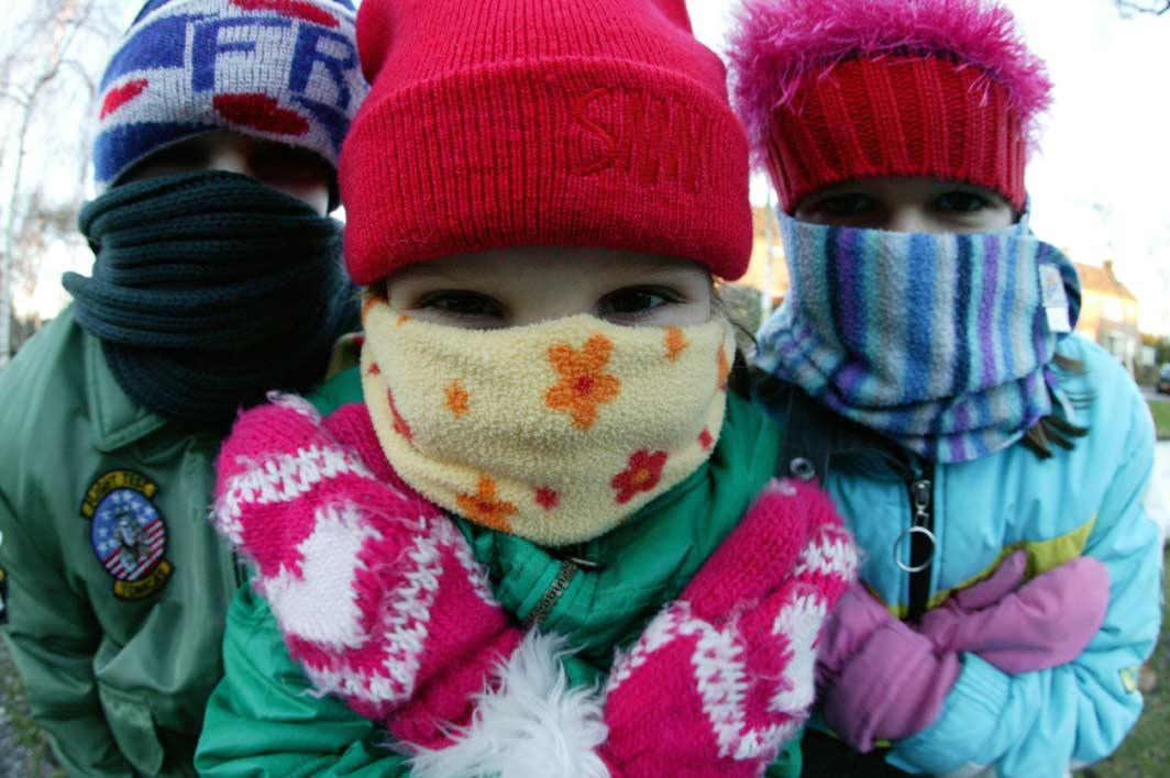 Het is stil op straat door snijdende kou