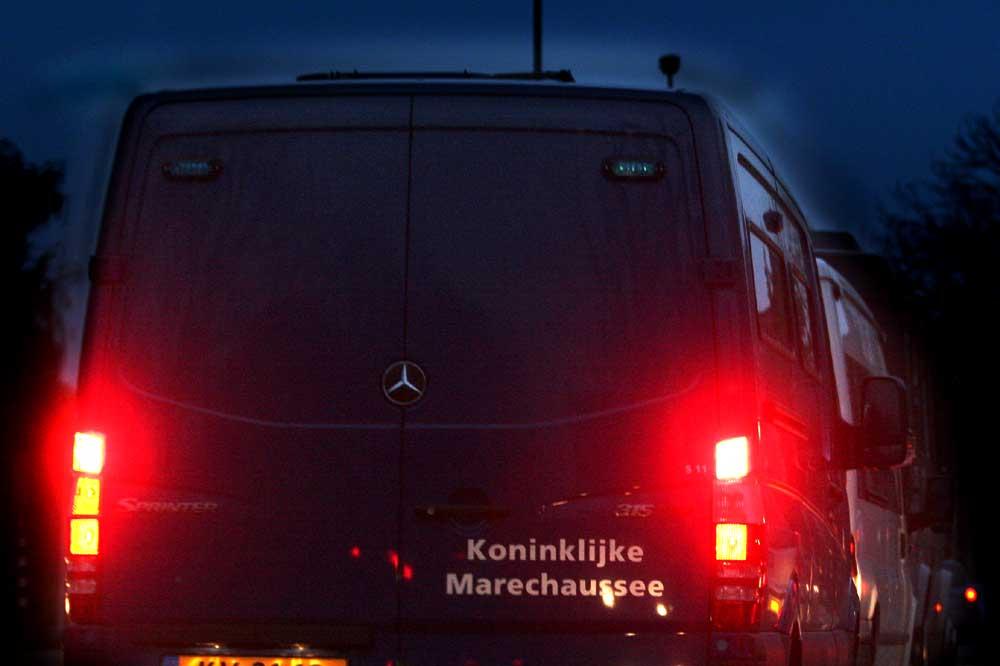 Foto van busje Marechaussee   Archief EHF