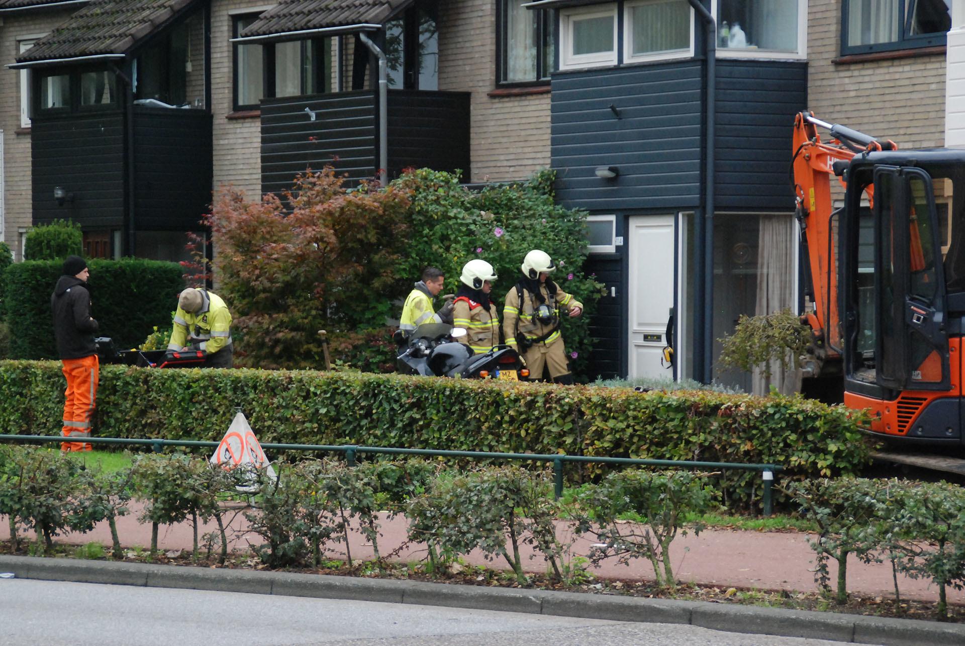 brandweer bij gaslek in Boxtel
