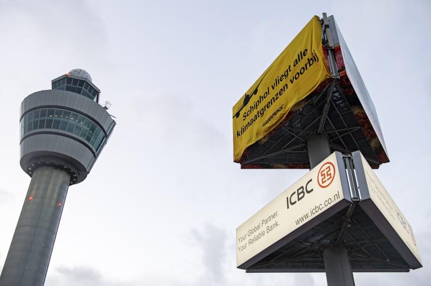 Demonstratie Schiphol