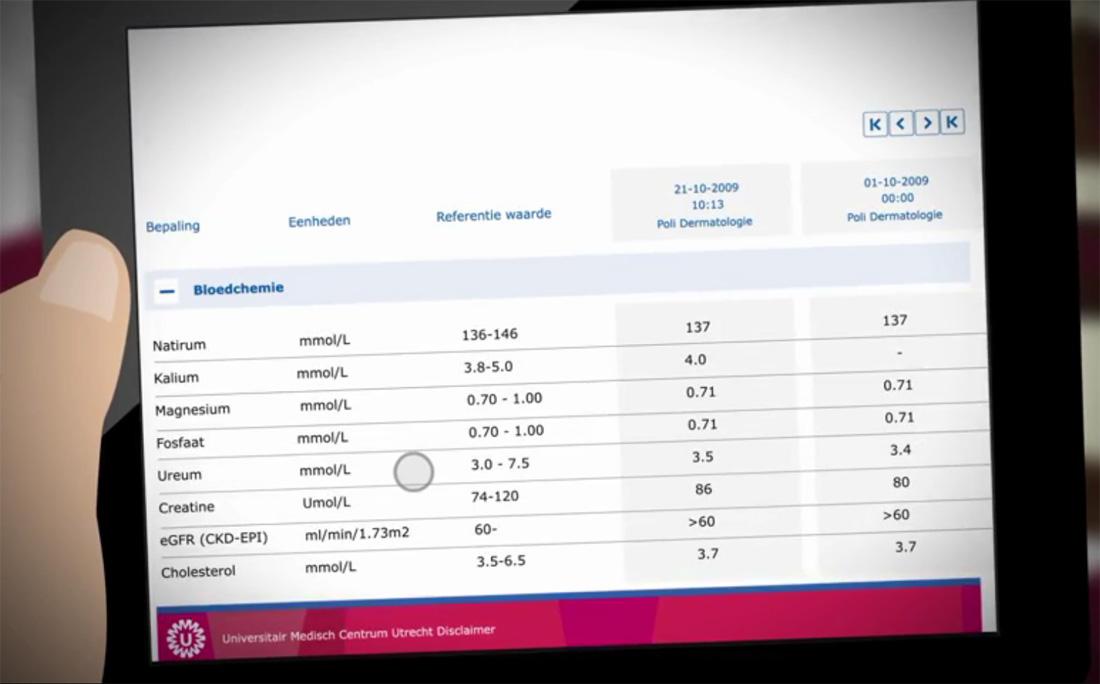 UMC Utrecht-patiënt kan online eigen medisch dossier inzien