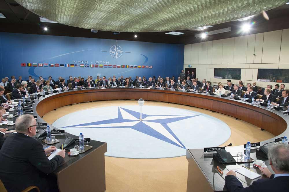 Foto van vergadering NAVO | NATO
