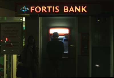 Foto van geldautomaat Fortis   Archief EHF