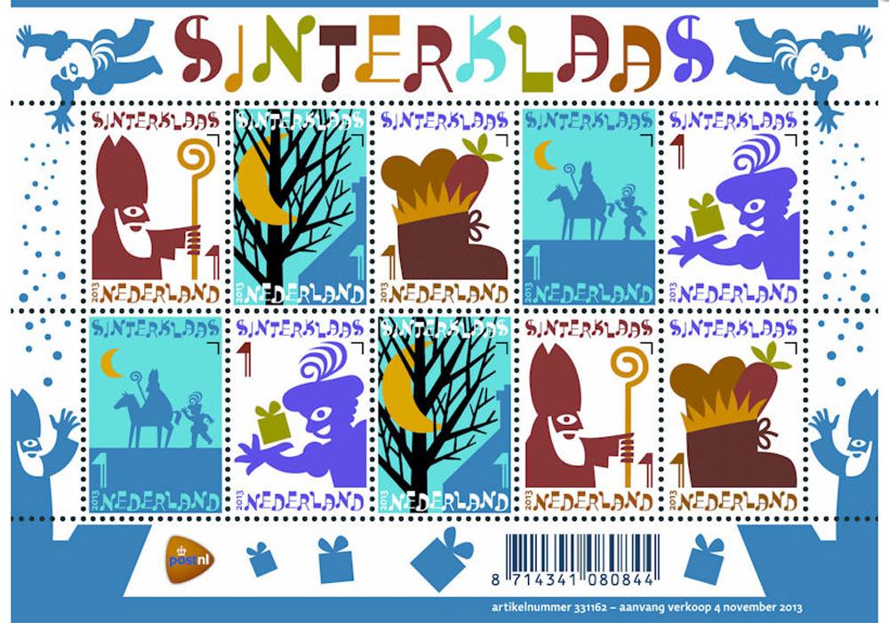 Foto van postzegel sint en piet | PostNL