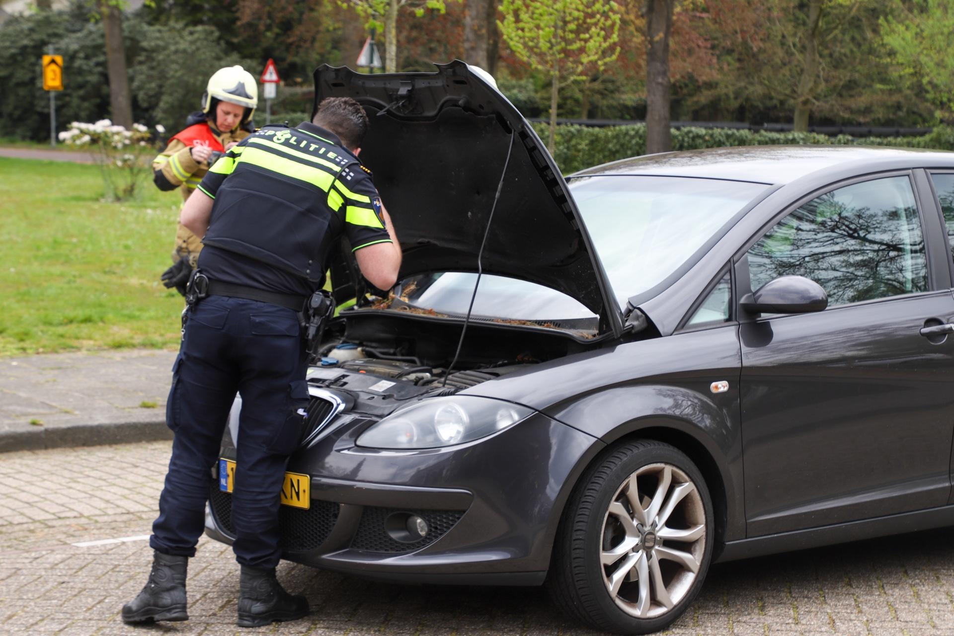 Politie en brandweer onderzoeken auto
