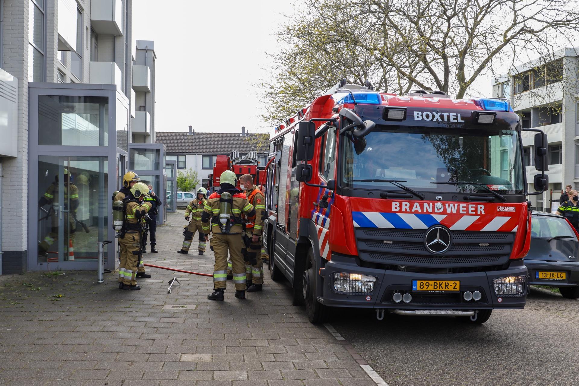 Brandweer doet nacontrole