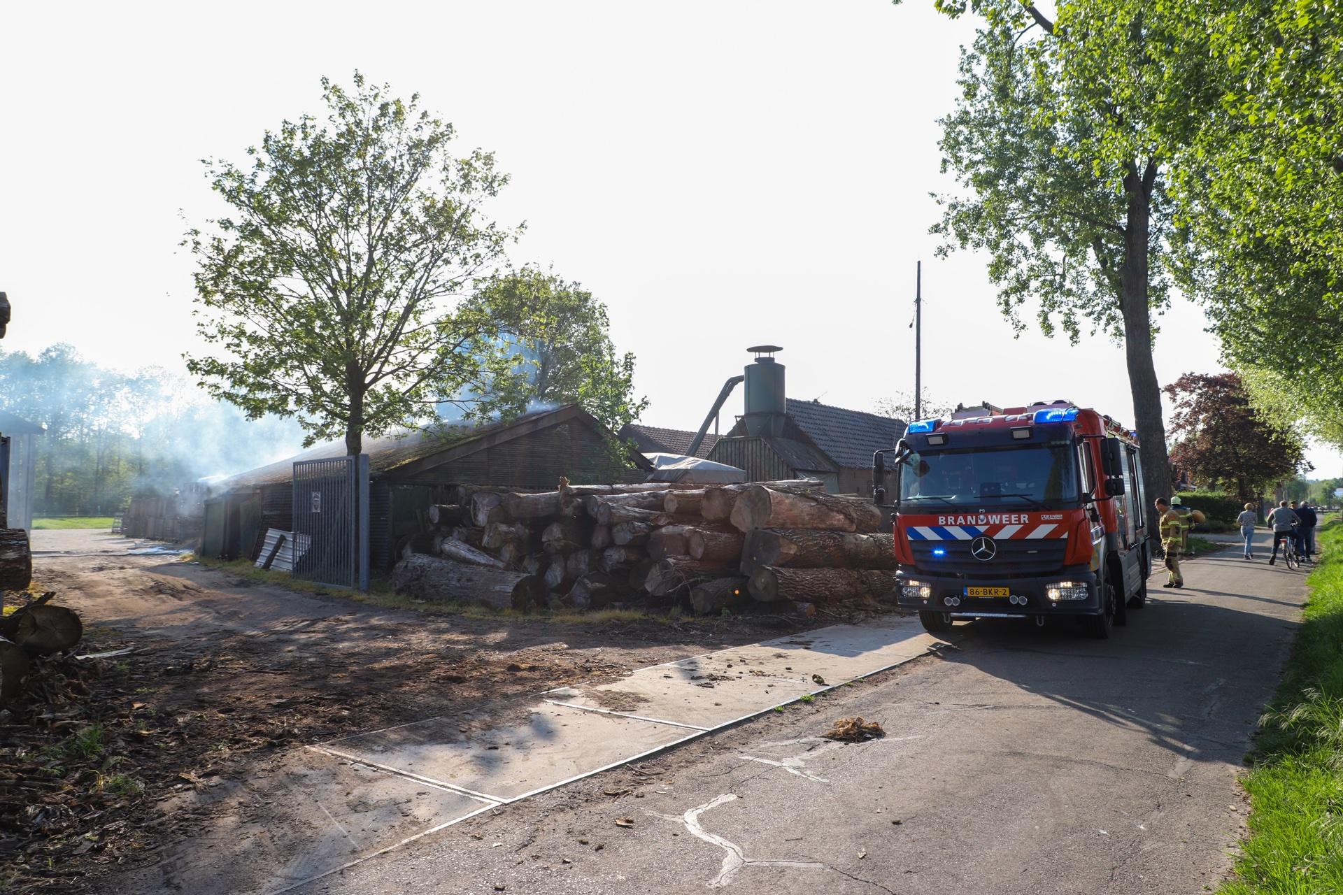 rookontwikkeling bij brand in droogoven