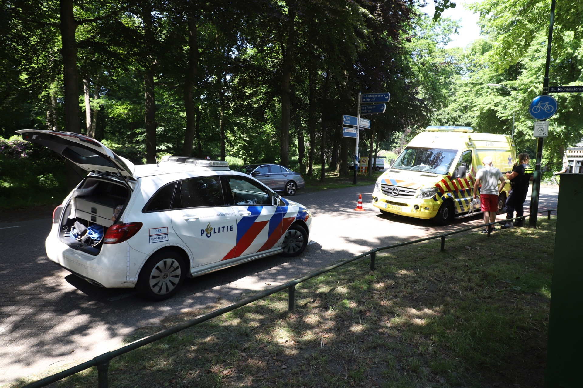 Hulpdiensten bij afhandeling van ongeval