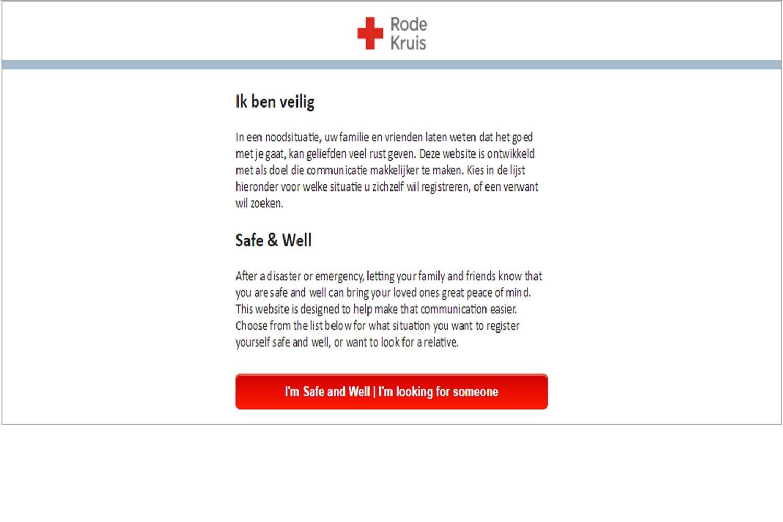 Rode Kruis opent ikbenveilig.nl voor orkaan Irma