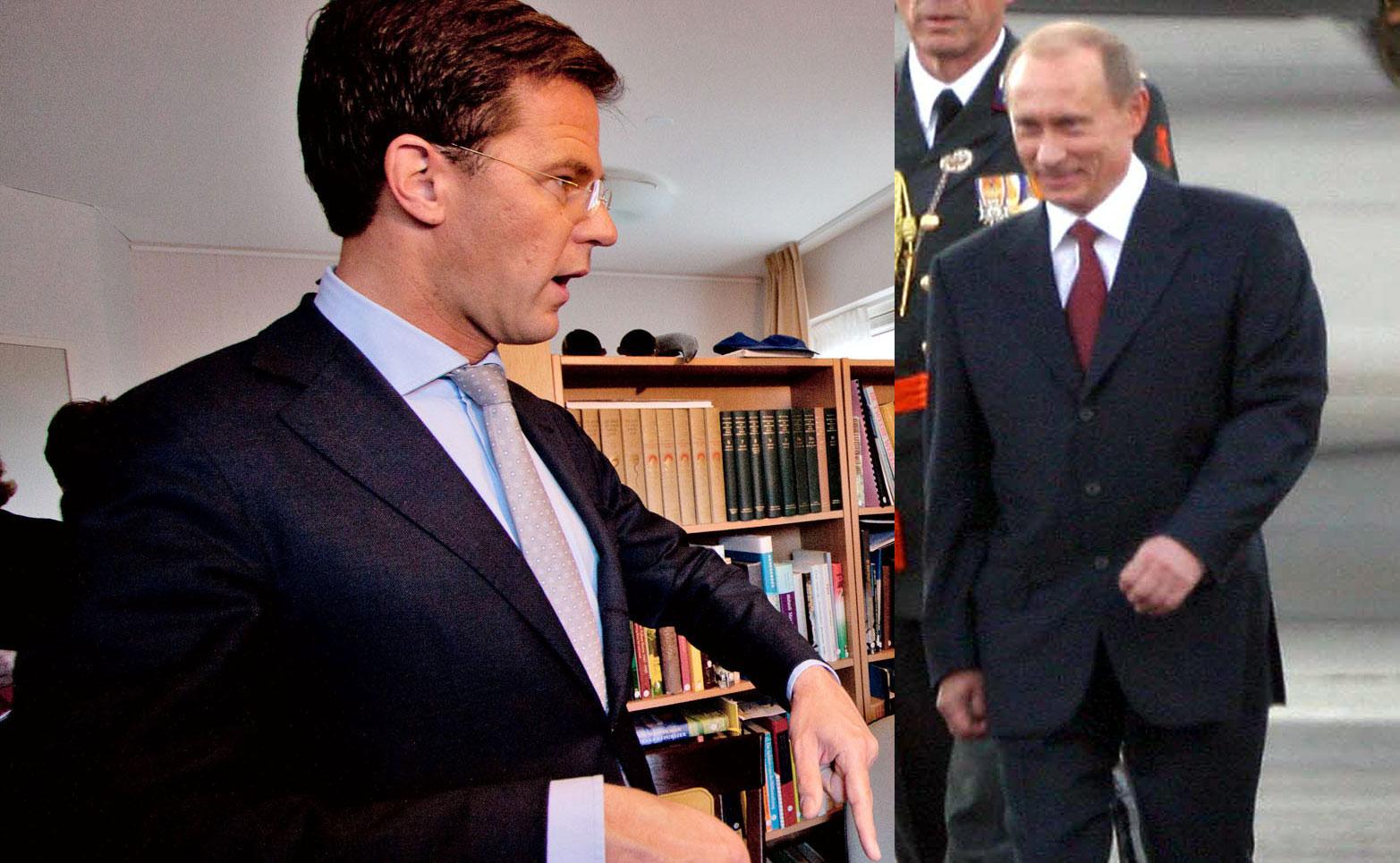 Rutte: ''Poetin het is nu menis''