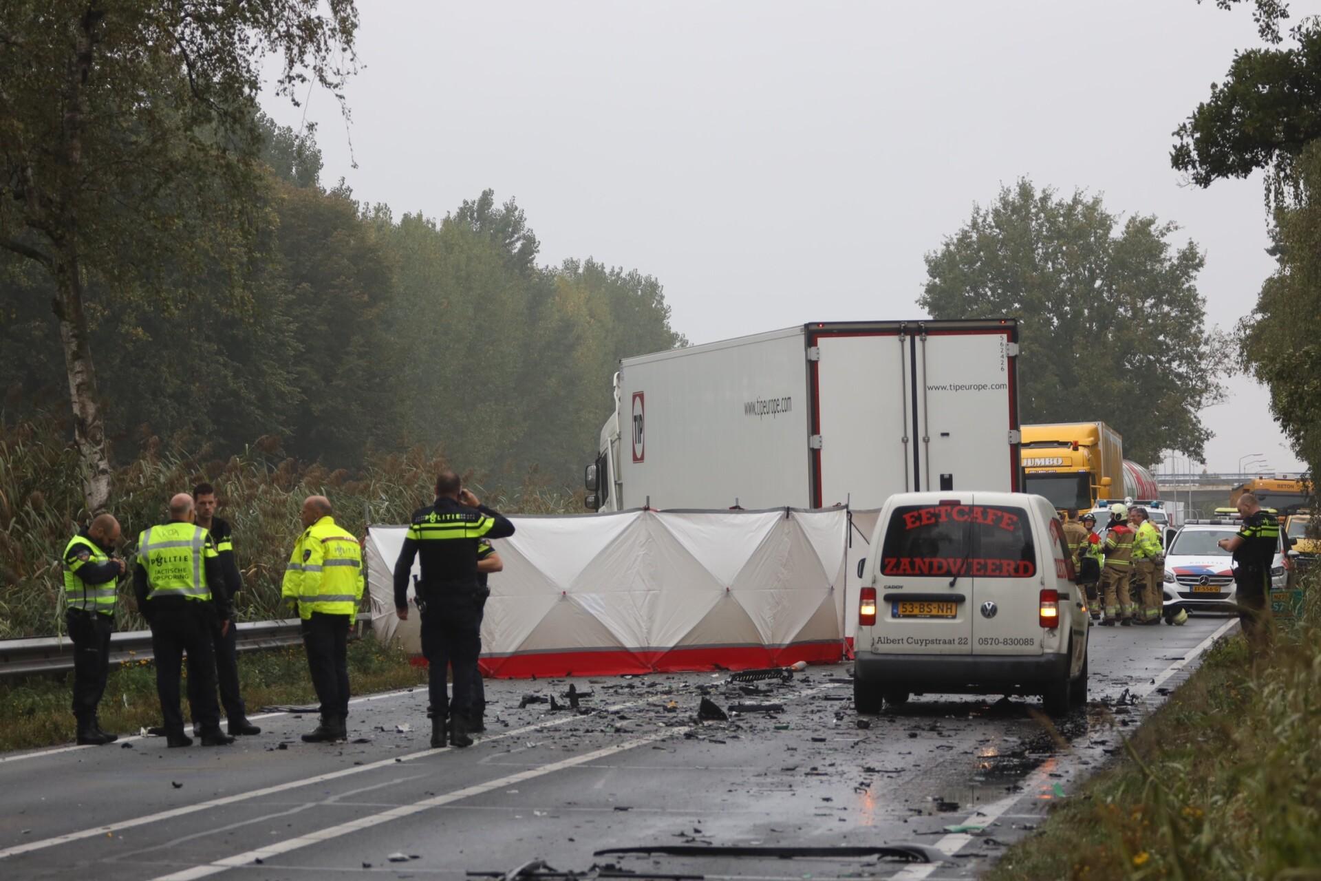 Ravage op N279 na ongeval met vrachtwagen