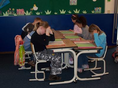 Foto van leerlingen in klas | Archief EHF