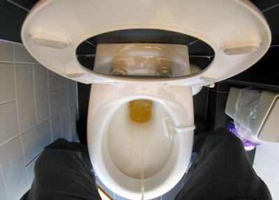Foto van plassende man op toilet | Archief EHF