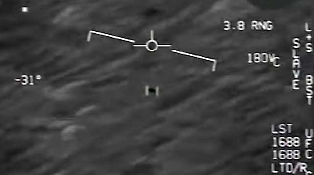 UFO gespot door straaljagerpiloot van de Amerikaanse marine