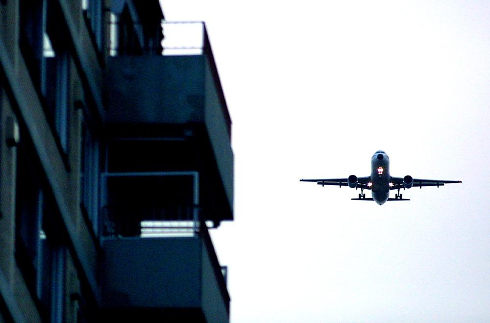 Foto van vliegtuig richting Buitenveldertbaan   Archief EHF