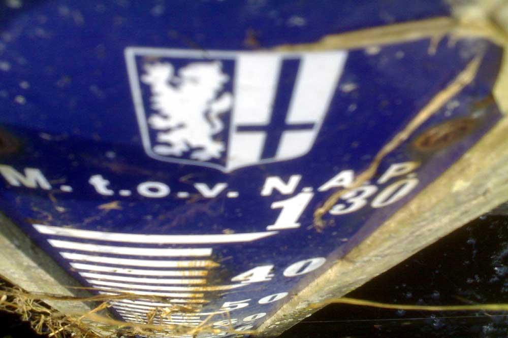 Foto van waterstand NAP peil | Archief EHF
