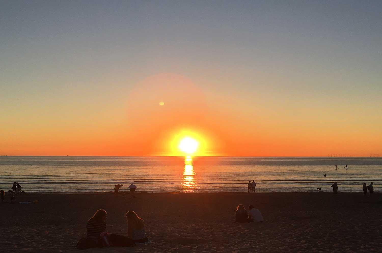 zonsondergang-strand