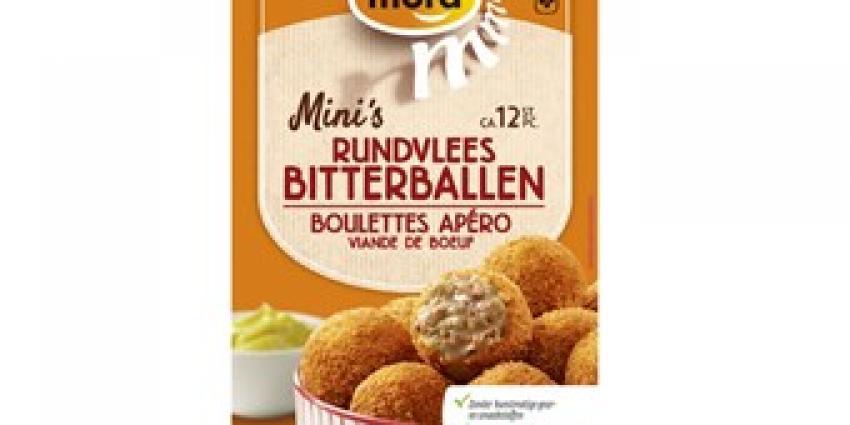 Mora roept  'Mini's Rundvlees Bitterballen' terug