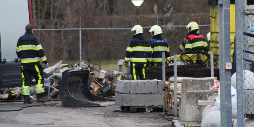 Containerbrand op gemeentewerf