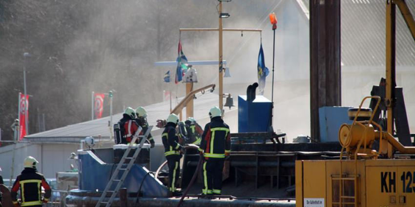 Scheepsbrand in Farmsum