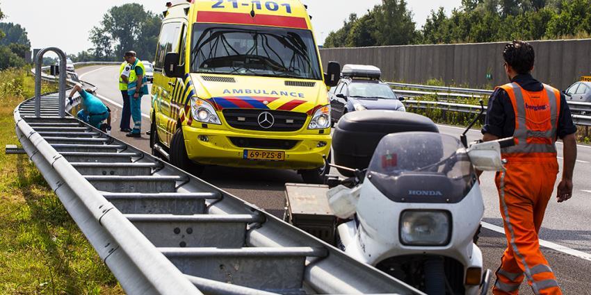 Motorrijder gewond op A2 bij Boxtel