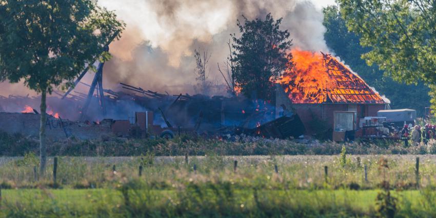 Brand in boerderij