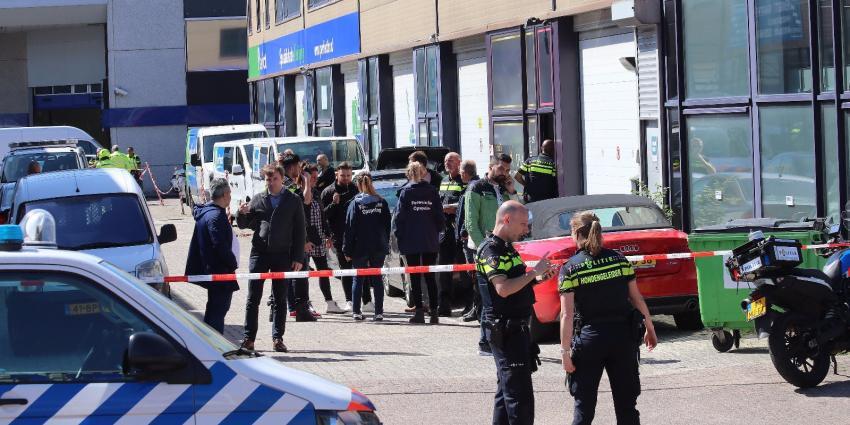 Gschoten bij mogelijke overval in Amsterdam