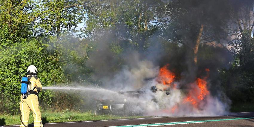 Foto van autobrand