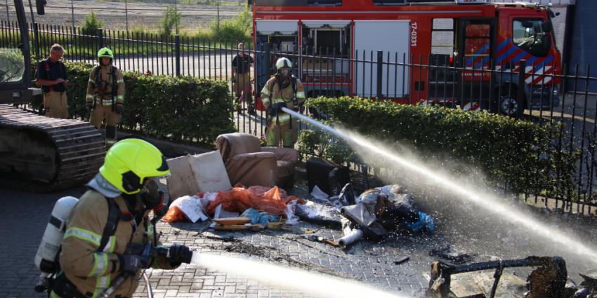 Opnieuw brand bij milieustraat