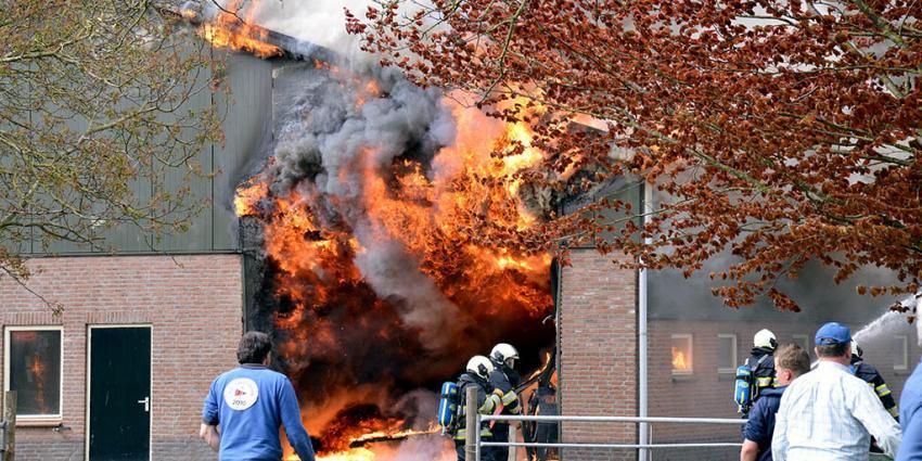 Landbouwschuur volledig uitgebrand in Montfoort