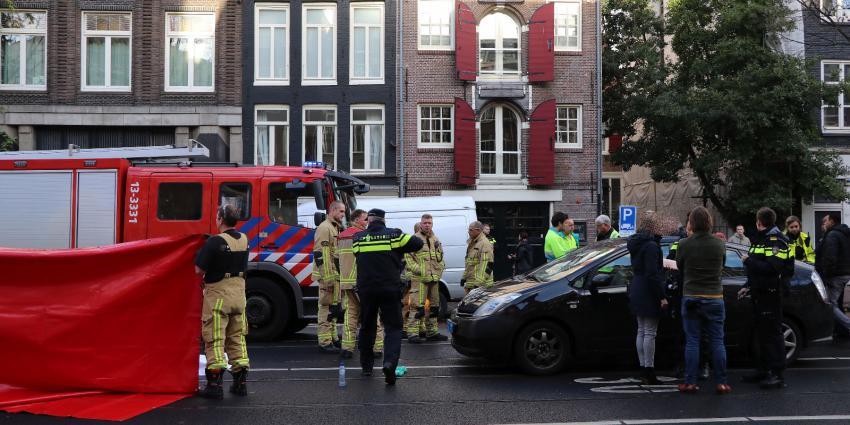 Voetganger overleden na aanrijding op Rozengracht in Amsterdam